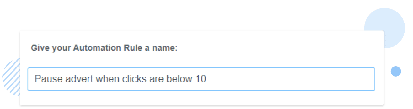 Automation rule name