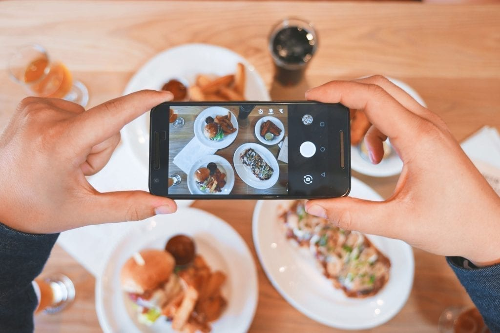 Taking a picture of your food