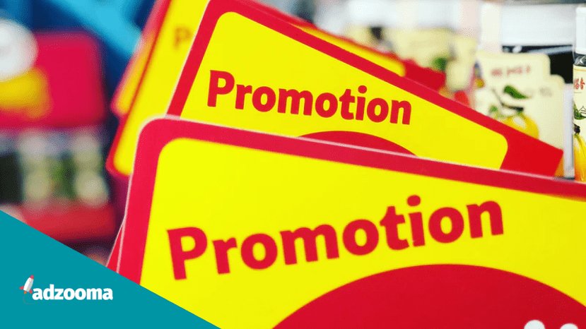 A promotions sign