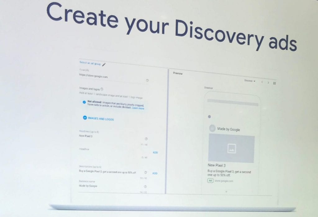 Create your Discovery ads page