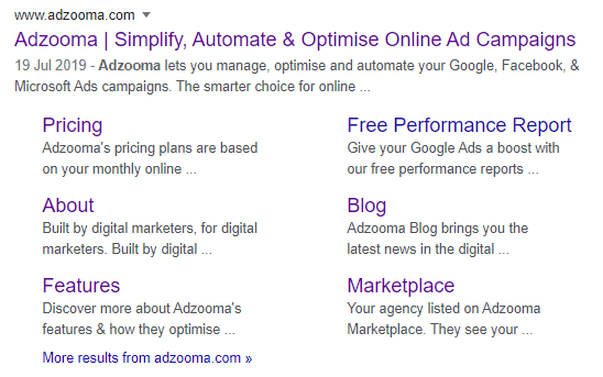 """Google Search Result for query """"adzooma"""""""
