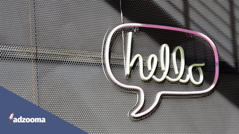 A neon sign that says hello