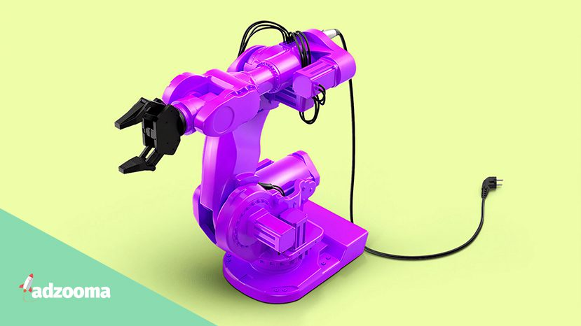 A purple toy robot